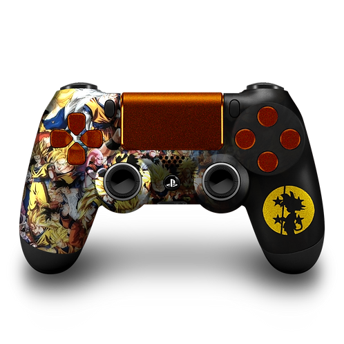 Manette PS4 custom Dragon Ball Z par ESCONTROLLERS
