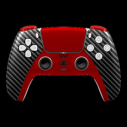 Manette PS5 custom Ruby-Carbon