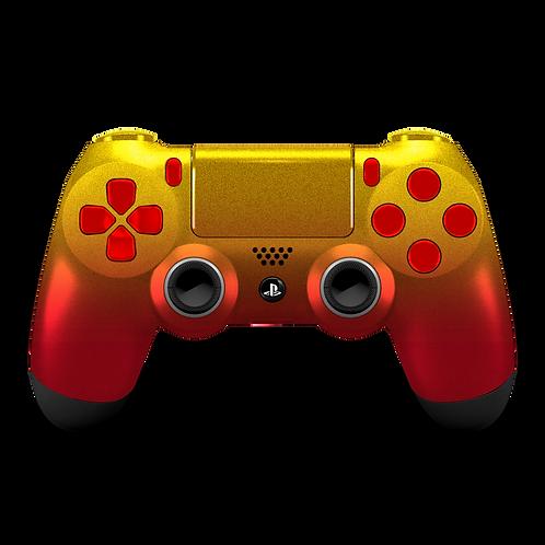 Manette PS4 custom Gold-Ruby