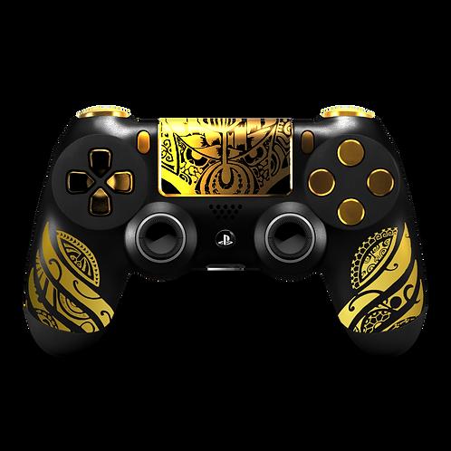 Manette PS4 custom Maori par ESCONTROLLERS