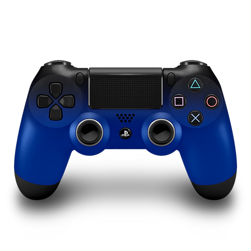 Manette PS4 custom Black-Blue
