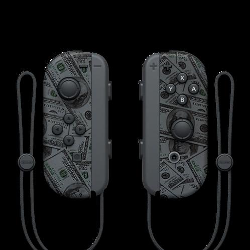 Manettes Switch custom Dollars par ESCONTROLLERS