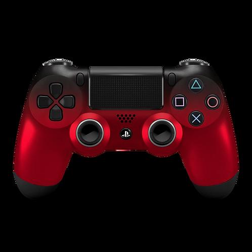 Manette PS4 custom Black-Ruby