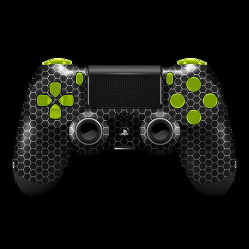 Manette PS4 custom Black Hexa par ESCONTROLLERS