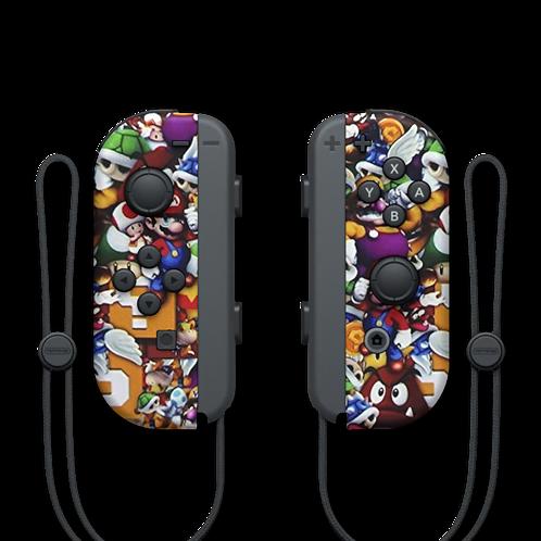 Manettes Switch custom Mario par ESCONTROLLERS