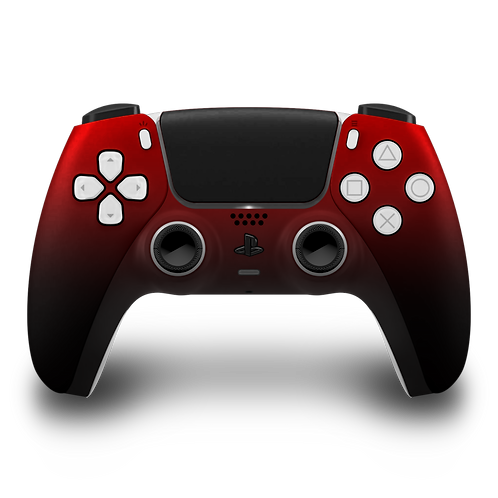 Manette PS5 custom Red-Black