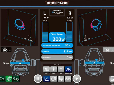 Como funciona o Shimano Pedalling Analyzer no seu bike fit