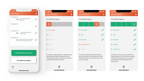 Mockups of screens from the mobile app platform of the Selection project