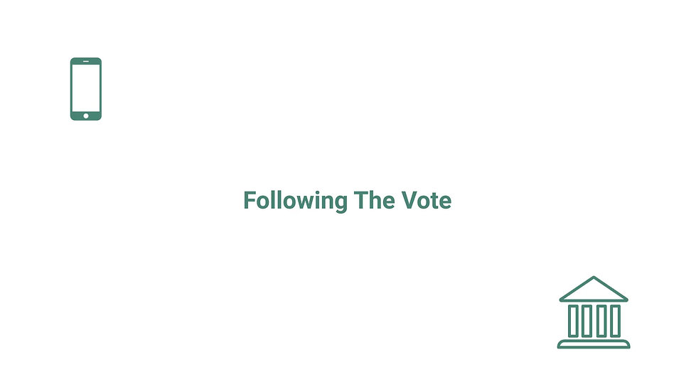 Simplifying the application of blockchain technology for submitting votes.