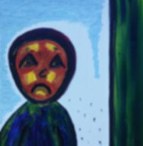 """Картина маслом """"Ангел"""" Yulianna Osi. Живопись в стиле абстракция. Картина фото русскогго художника. Эксклюзив."""