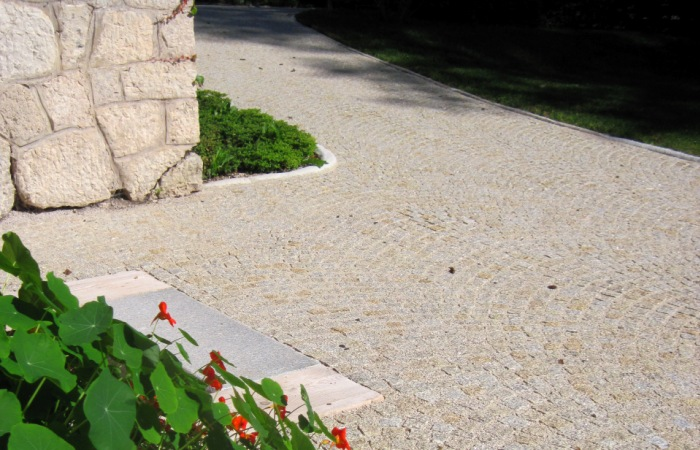 Pflastersteine Granit gelb | grau