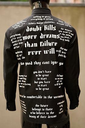 Doubt Kills Dress Shirt Black
