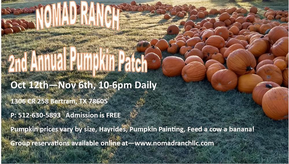 Nomad Ranch Pumpkin Patch 2018