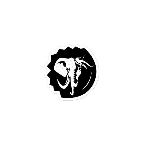 Hemispheres United Black & White Bubble-free stickers