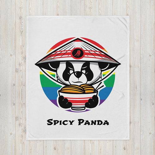 Spicy Panda Rainbow - Throw Blanket copy
