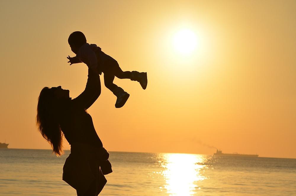 Maminka s dítětem, seberozvoj