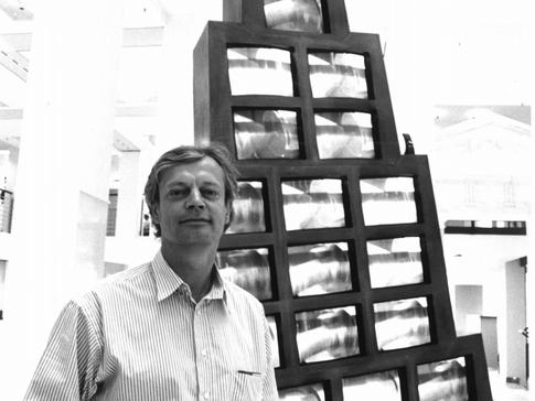 """vor Marie-Jo Lafontaine's """"Metronome de Babel"""", 1989"""