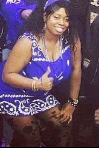 Women's Blue Rag Dress (Royal)
