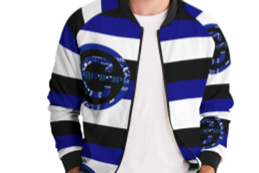 STRIPPED LOGO BOMBER