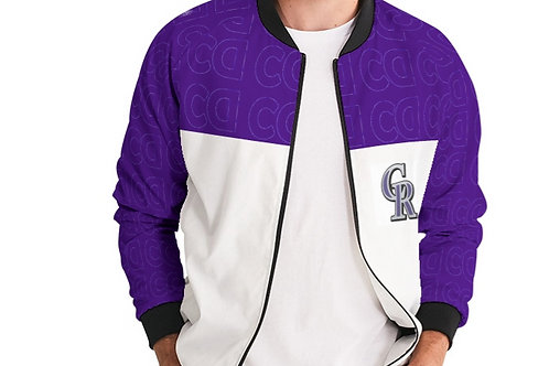 PURPLE/WHITE BOMBER