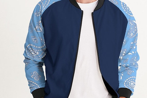NAVY/POWDER BLUE BOMBER JACCET