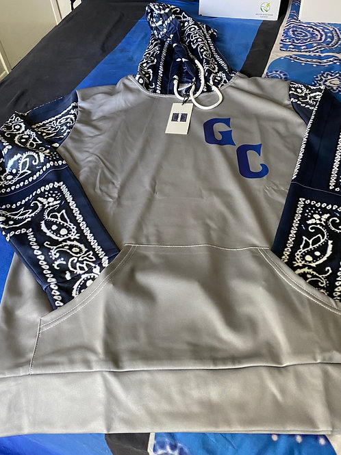 GC HOODY NAVY BLUE/GREY
