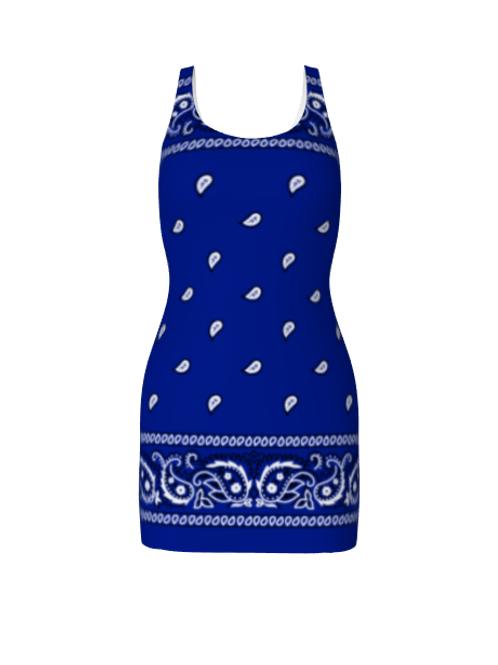 ROYAL BLUE RAG DRESS