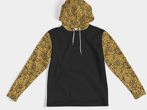 BLACC/GOLD PAISLEY HOODY
