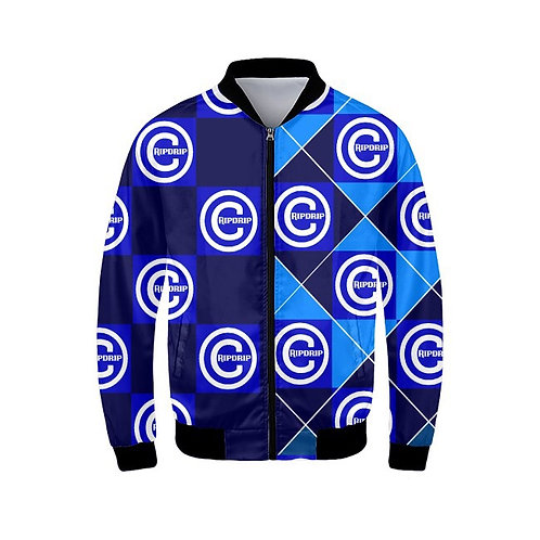Blue Checcered Bomber Jaccet