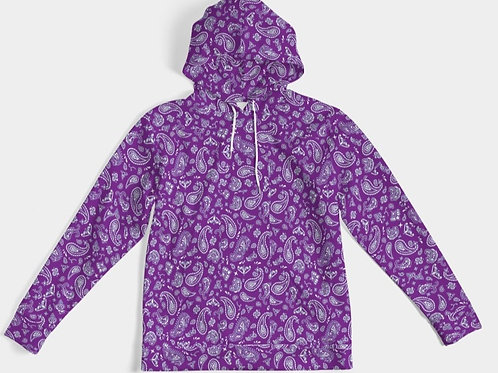 PURPLE PAISLEY HOODY