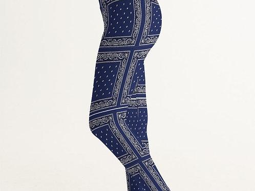 NAVY BLUE RAG LEGGINGS