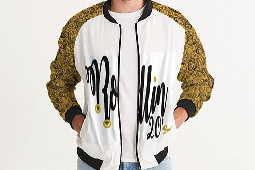 GOLD SLEEVE BOMBER