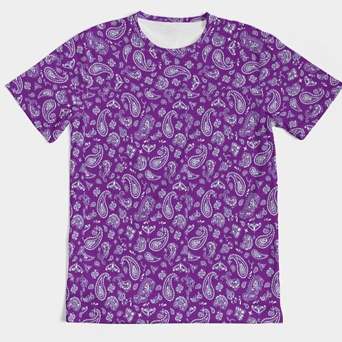PURPLE PAISLEY TEE