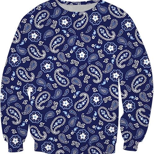 Navy Paisley Sweatshirt