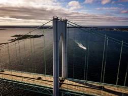 Claiborne Pell Bridge.  Newport, RI.