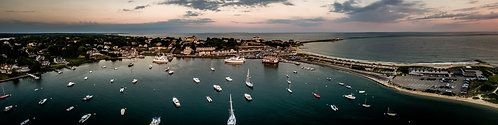 """Watch Hill Harbor #2""  12""x 48"" Acrylic Panoramic"