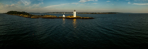 """Dutch Island Light #4""  12""x 36"" Acrylic Panoramic"