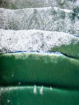 """Winter Surfers."" Hampton Beach, NH."