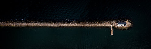 """Rockland Light #4.""  12""x36"" Acrylic Panoramic"