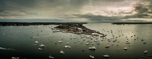 "Newport Folk Festival #2""  12""x31"" Acrylic Panoramic"