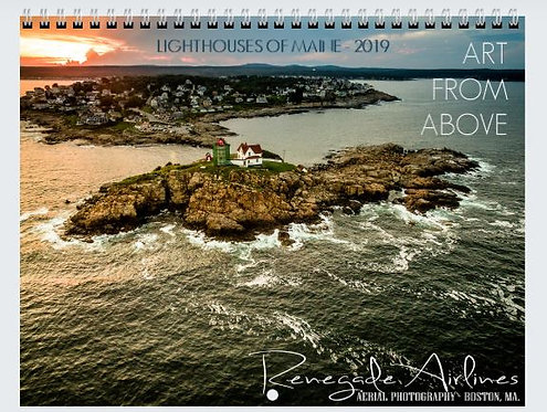 Lighthouses of Maine - 2019 Wall Calendar