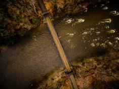 The Wire Bridge.  New Portland, ME.