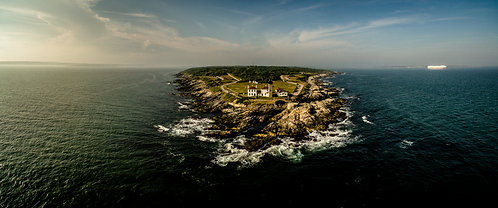 """Beavertail Light""  12""x 30"" Acrylic Panoramic"