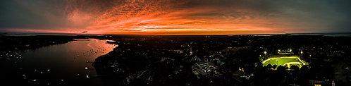 """""""Goodnight Chatham.""""     12""""x50"""" Acrylic Panoramic"""