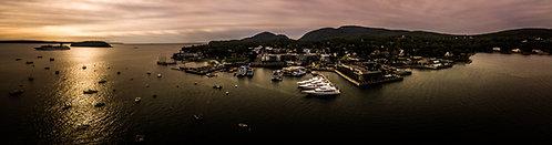 """Bar Harbor #1."" 12""x46"" Acrylic Panoramic"