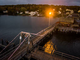 Footbridge.  Boothbay Harbor, ME.