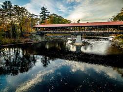 The Saco River Bridge.  Conway, NH.