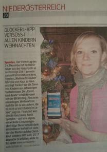 Christkindglockerl-App, Verein Weihnachtszauber, NÖN