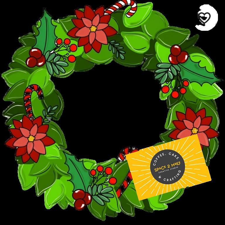 Paint A Christmas Doorhanger Wreath