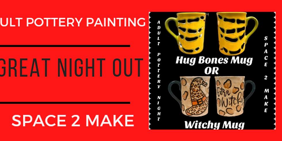 Adult Pottery Painting Night  - Halloween Mug (1)